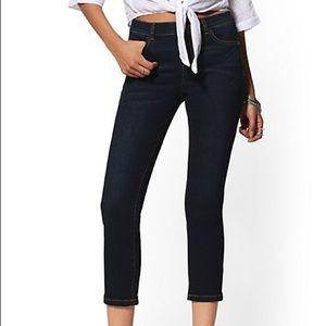 🌸NY&Co Dark Rinse Cropped Jeans